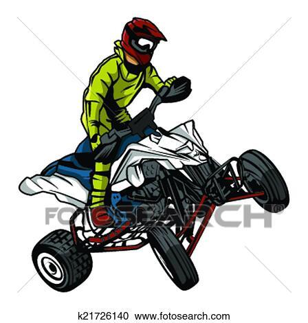 clipart of atv moto rider k21726140 search clip art illustration rh fotosearch com atv clip art pictures atv clip art girls