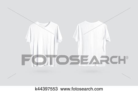 Stock Photo Of Blank White T Shirt Front And Back Side View Design