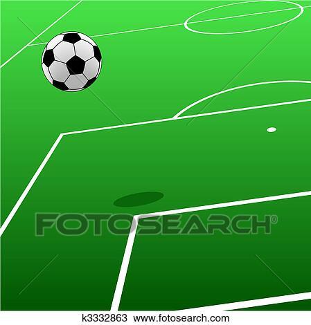 Fussballplatz Clipart K3332863 Fotosearch