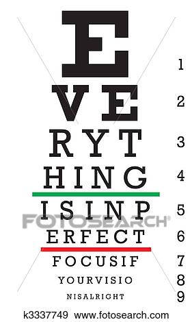 Clip Art Of Optometry Eye Chart Illustration K3337749 Search