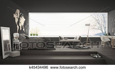 Banque d illustrations scandinave minimaliste chambre à