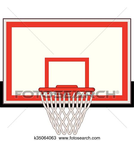 clipart of basketball hoop k35064063 search clip art illustration rh fotosearch com free clipart basketball hoop clipart basketball hoop