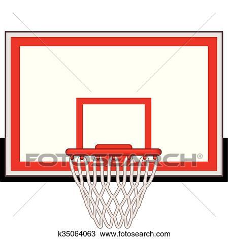 clipart of basketball hoop k35064063 search clip art illustration rh fotosearch com clipart basketball hoop basketball hoop clipart png