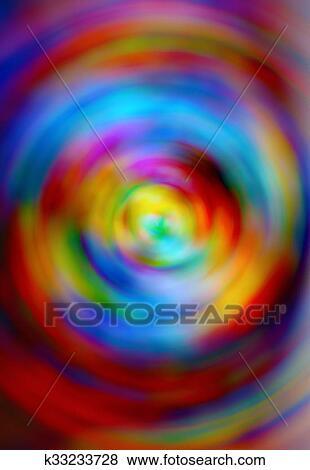 Bello Estratto Arcobaleno Cerchio Sfondo Colore Rosso Giallo