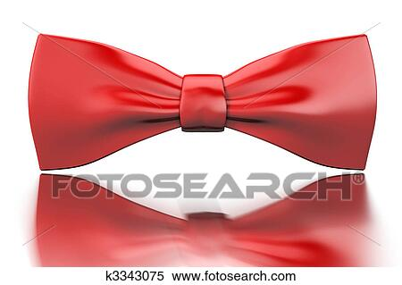 89044063 Red bow-tie Stock Illustration | k3343075 | Fotosearch
