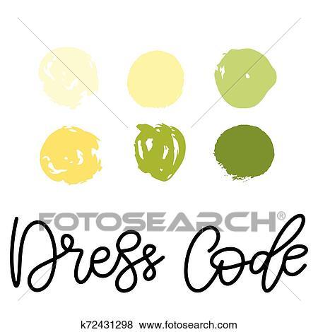 Wedding Dress Code Color Palette Clip Art K72431298