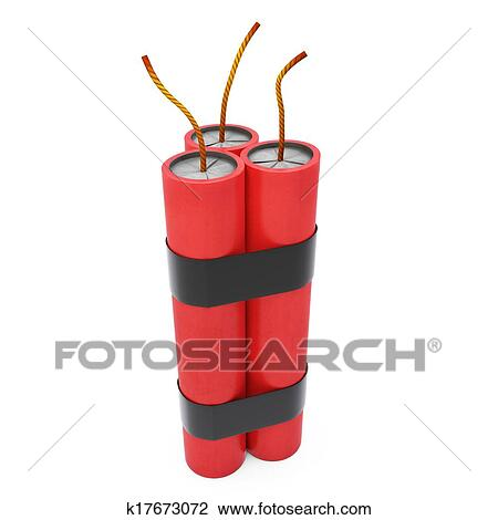clip art of 3d dynamite pack with fuse k17673072 search clipart rh fotosearch com dynamite clipart free dynamite clipart black and white