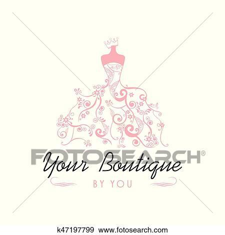 Clip art of dress boutique bridal logo template illustration vector clip art dress boutique bridal logo template illustration vector design fotosearch search clipart maxwellsz