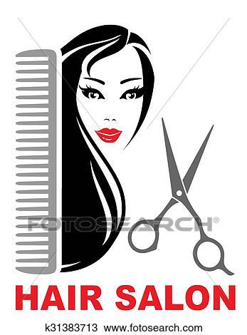 hair salon icon clipart rh fotosearch com hair salon clip art images vintage hair salon clipart