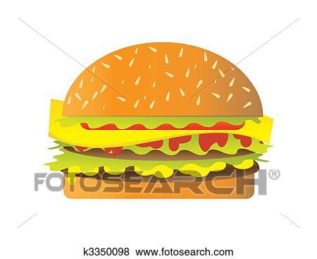 stock illustration of hamburger k3350098 search eps clip art