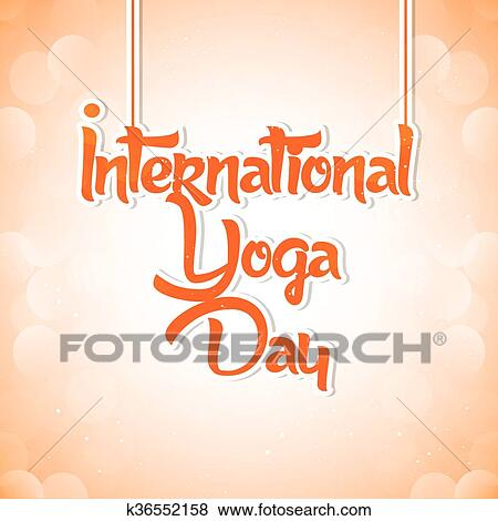Creative International Yoga Day Poster