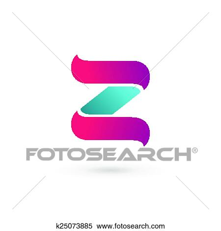 Clipart   Letter Z Logo Icon Design Template Elements. Fotosearch   Search  Clip Art,