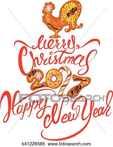 Auguri Di Buon Natale In Cinese.Mano Scritta Calligraphic Testo Buon Natale E Felice Anno Nuovo