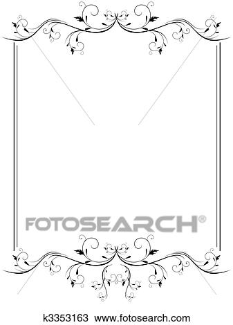 Clipart of vintage frame k3353163 - Search Clip Art, Illustration ...