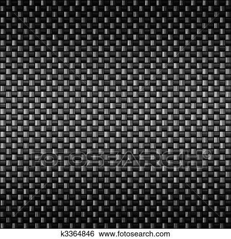 Carbon fibre fiber texture Clip Art