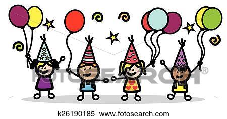 Clipart Geburtstagskinder K26190185 Suche Clip Art Illustration