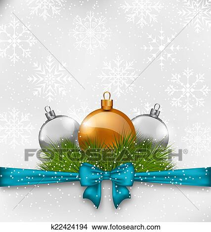 Clipart weihnachten hintergrund mit tanne zweige - Glas mit kugeln dekorieren ...