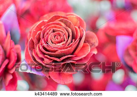 Stock Photograph Of Artificial Rose Flower Handicraft Items On