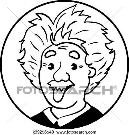 clipart einstein albert retrato com língua k39256548 busca de