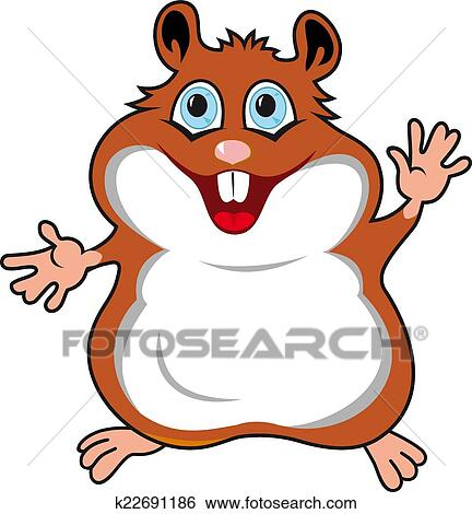 clip art of funny hamster k22691186 search clipart illustration rh fotosearch com hamster clip art free clipart hamster wheel