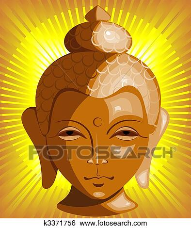 stock illustration of lord buddha k3371756 search clip art