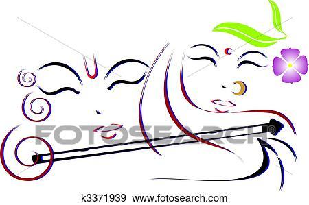 Stock Illustration Of Lord Krishna And Radha K3371939 Search
