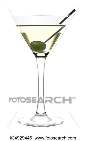 Stock Illustration Of Martini Glass And Olive K34929446 Search