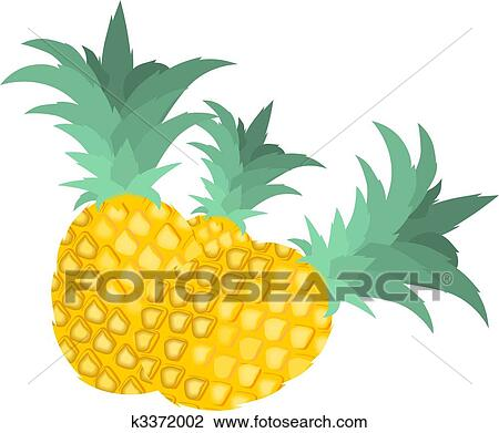 clip art of pineapples k3372002 search clipart illustration