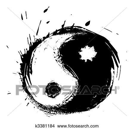 Clipart Of Artistic Yin Yang Symbol K3381184 Search Clip Art