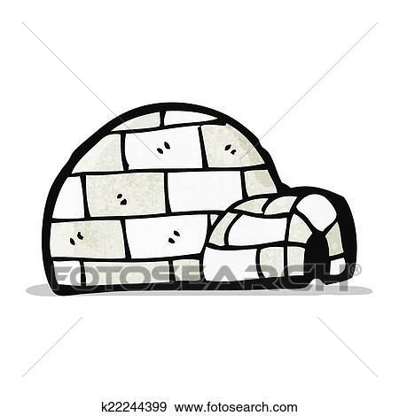 Cartoon igloo Clip Art