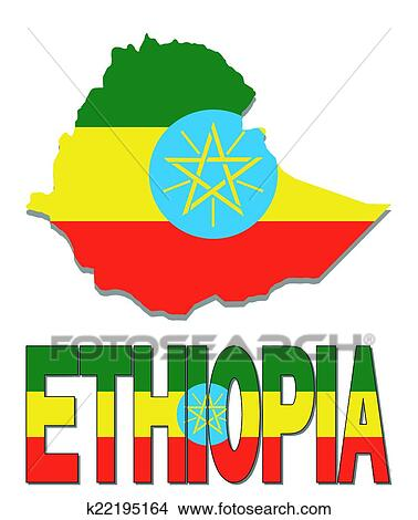 clipart of ethiopia map flag and text k22195164 search clip art rh fotosearch com Blank Map of Greece greece map clipart black and white