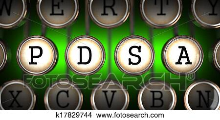 Dibujos - pdsa, en, viejo, typewriter\'s, keys. k17829744 - Buscar ...