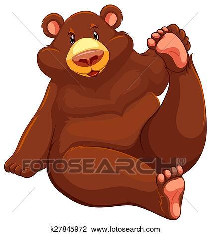clipart urso marrom sentar k27845972 busca de ilustrações clip