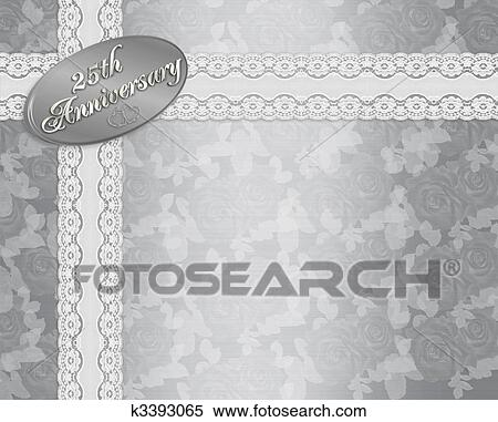 Stock illustration of 25th anniversary invitation k3393065 search illustration silver satin background with 3d text for 25th wedding anniversary invitation template with copy space stopboris Gallery
