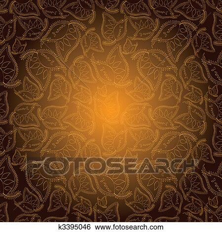 Abstract Indian Style Colorful Seamless Pattern Wallpaper