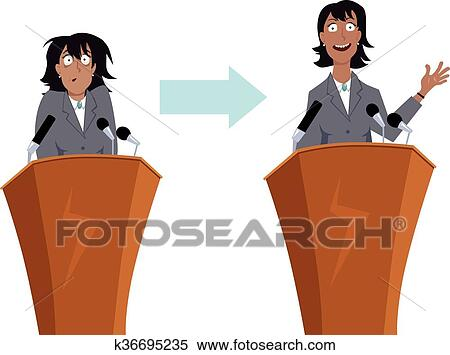 clipart of public speaking training k36695235 search clip art rh fotosearch com public speaker clipart public speaking audience clipart