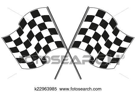 clipart of checkered flag racing k22963985 search clip art rh fotosearch com racing flag logo vector racing flag vector eps