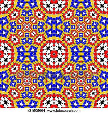clipart desenho seamless coloridos mosaico padrão k31505664