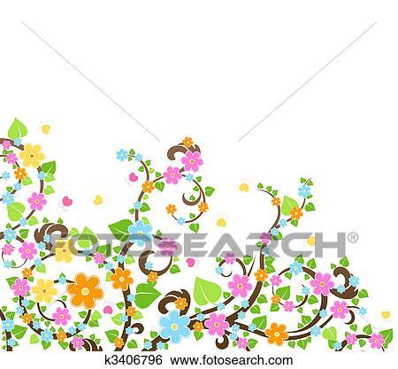 Banque D Illustrations Fleur Arbre K3406796 Recherche De Clip