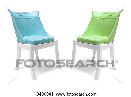 Stock Fotografie Miniatur Plastik Stuhle K3406941 Suche