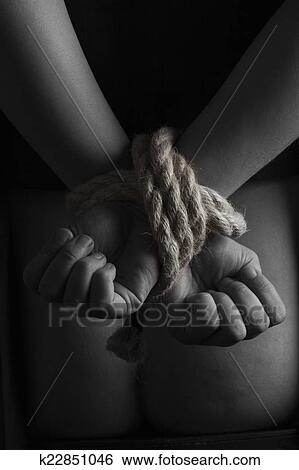 Stock Image Nude Submissive Handcuffed Woman Bondage Act Fotosearch Search Stock Photography