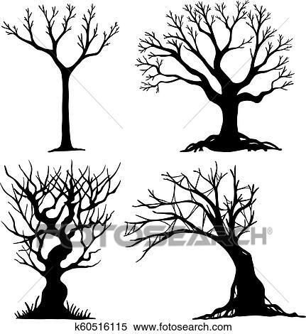 Set Of Halloween Tree Clipart K60516115 Fotosearch