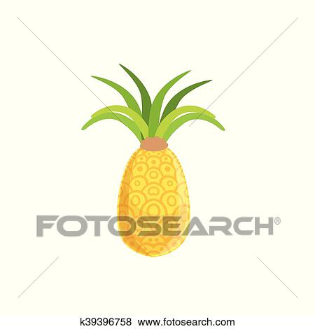Tellow Frais Ananas Clipart