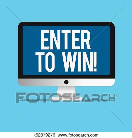 Conceptual hand writing showing Enter To Win  Business photo showcasing  Sweepstakes Trying the luck to earn the big prize Lottery Stock Photograph