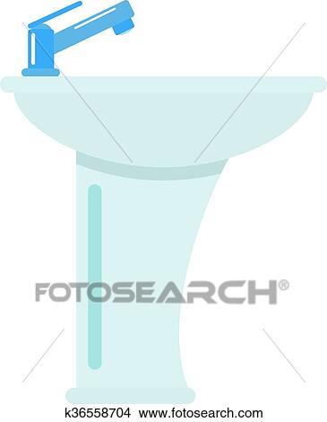 Waschbecken clipart  Clipart - keramisch, badezimmer, waschbecken, freigestellt, weiß ...