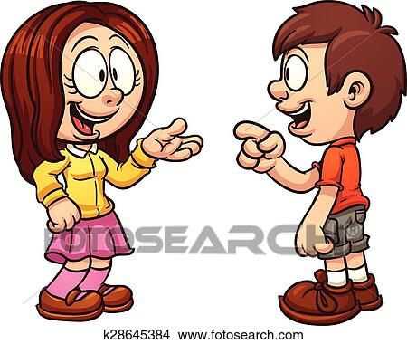 clipart of kids talking k28645384 search clip art
