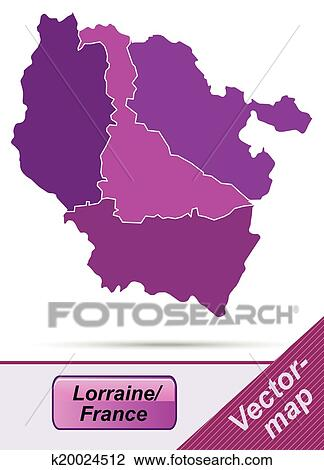 Clipart Of Map Of Lorraine K20024512 Search Clip Art Illustration