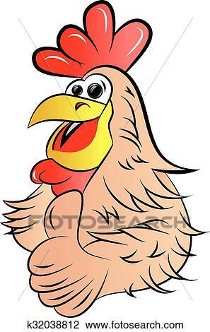 鶏 クリップアート切り張りイラスト絵画集 K32038812 Fotosearch