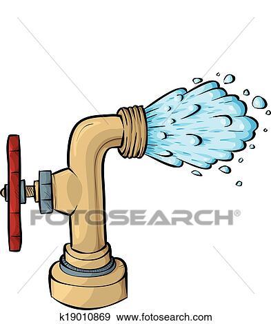 clip art of water faucet k19010869 search clipart illustration rh fotosearch com water faucet clip art free water spigot clipart