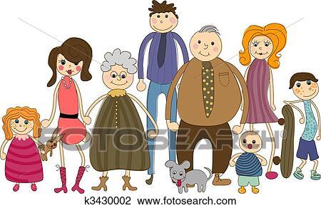 clipart of big family portrait k3430002 search clip art rh fotosearch com big family clipart black and white big family picture clipart